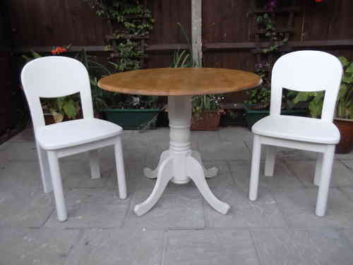 Farmhouse Dropleaf table & 2 chairs # # # SOLD # # #