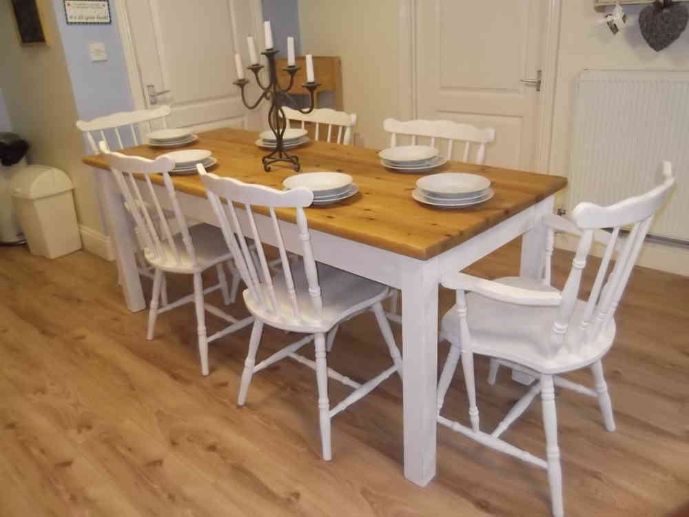 country farmhouse furniture. Perfect Farmhouse Stunning Large  Country Farmhouse Table U0026 6 Oak Chairs Inc 2 Carvers  With Furniture