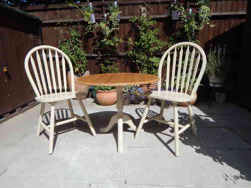 Lovely Shabby Chic Bistro table & 2 chairs # # # SOLD # # #