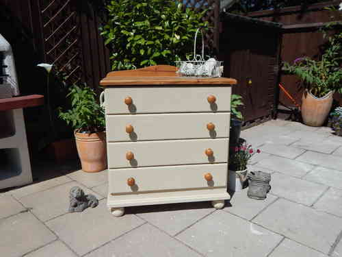 CHEST OF DRAWERS , SHABBY CHIC (4 drawer) # # # SOLD # # #