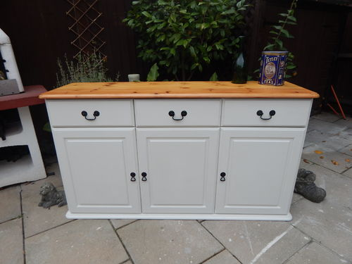 SHABBY CHIC, FARMHOUSE PINE SIDEBOARD # # # SOLD # # #