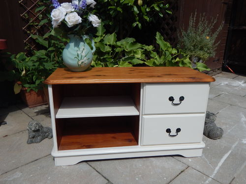 SHABBY CHIC PINE TV CABINET # # # SOLD # # #
