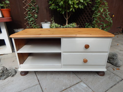SHABBY CHIC DUCAL SOLID PINE TV CABINET  # # # SOLD # # #