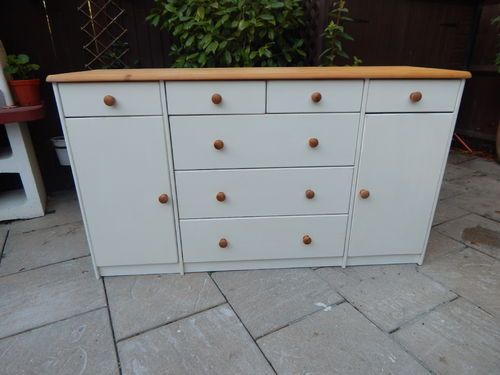 LARGE SHABBY CHIC PINE SIDEBOARD # # # SOLD # # #