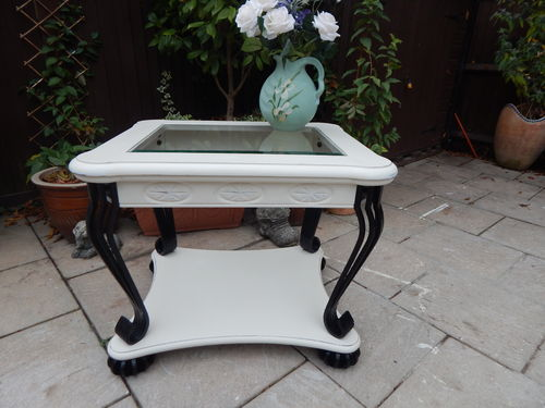 STUNNING SHABBY CHIC COFFEE TABLE , LAMP TABLE , HALL TABLE # # # SOLD # # #
