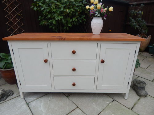 GORGEOUS , SHABBY CHIC PINE FARMHOUSE SIDEBOARD # # # SOLD # # #
