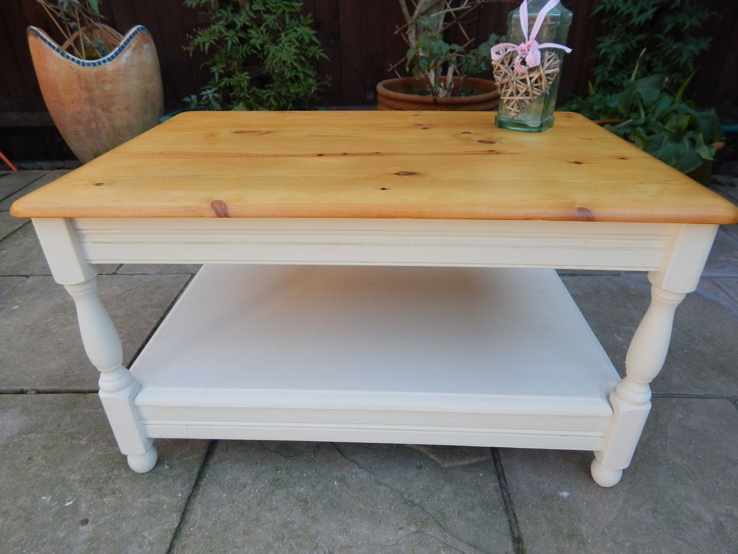 Lovely Pine Shabby Chic Coffee Table Sold Moonstripe
