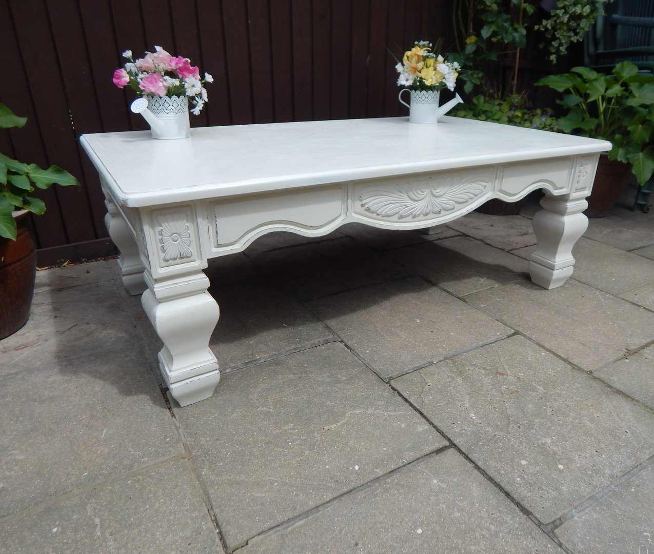 French Country Distressed Coffee Table: SHABBY CHIC , LARGE FRENCH COUNTRY COFFEE TABLE # # # SOLD