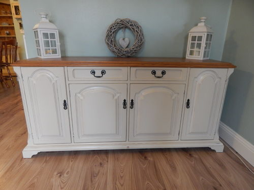 GORGEOUS LARGE OAK FARMHOUSE SIDEBOARD # # SOLD # #