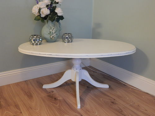 SHABBY CHIC ELEGANT OVAL COFFEE TABLE # # # SOLD # # #