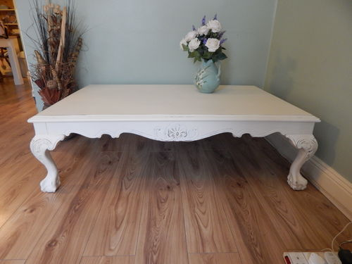 LARGE, SHABBY CHIC , FRENCH COUNTRY , COFFEE TABLE # # SOLD # #
