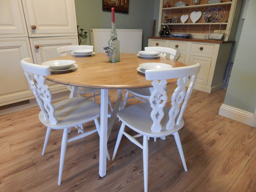 GORGEOUS ERCOL DROPLEAF TABLE & 4 ERCOL CHAIRS # # SOLD # #