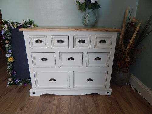 GORGEOUS SHABBY CHIC, PINE MERCHANTS CHEST / CHEST OF DRAWERS # # # SOLD # # #