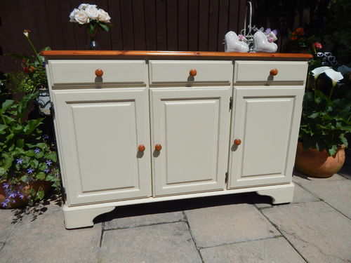 QUALITY SOLID PINE FARMHOUSE SIDEBOARD BY DUCAL # # # SOLD # # #
