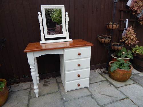 GORGEOUS SOLID PINE SHABBY CHIC DRESSING TABLE # # # SOLD # # #