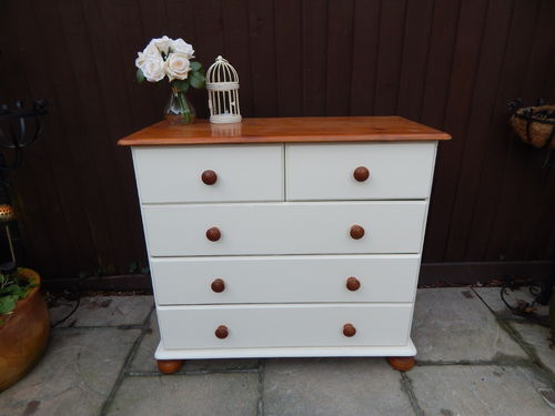 FARMHOUSE CHEST OF DRAWERS , SHABBY CHIC, PINE # # # SOLD # # #