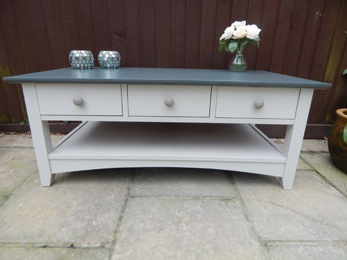 RETRO , SOLID PINE COFFEE TABLE WITH 6 DRAWERS  # # # SOLD # # #