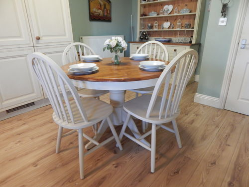 SHABBY CHIC FARMHOUSE DINING TABLE & 4 CHAIRS # # SOLD # #