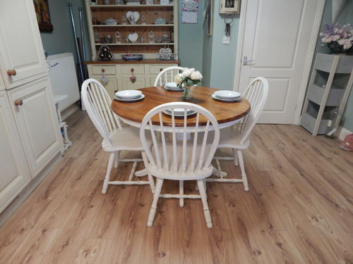 SHABBY CHIC FARMHOUSE DINING TABLE & 4 CHAIRS # # # SOLD # # #