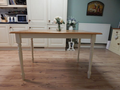 LOVELY SOLID BEECH COUNTRY FARMHOUSE DINING TABLE / KITCHEN TABLE # # # SOLD # # #