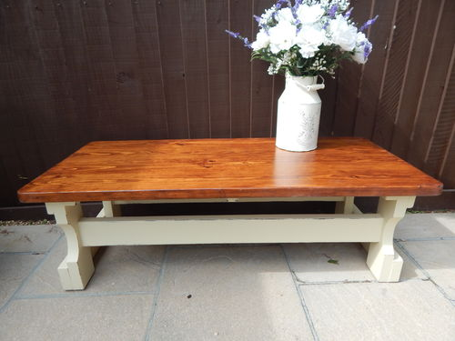 COFFEE TABLE, COUNTRY FARMHOUSE, RUSTIC, SOLID PINE