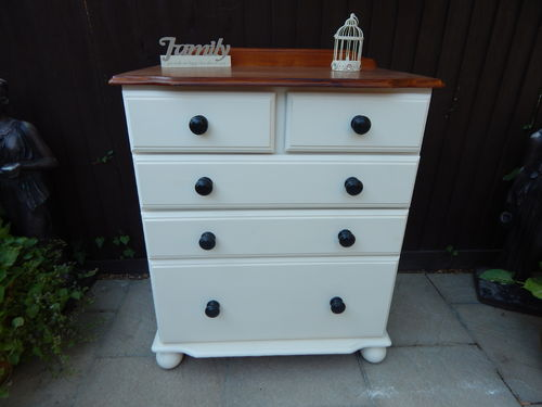 VINTAGE FARMHOUSE PINE CHEST OF DRAWERS # # # SOLD # # #