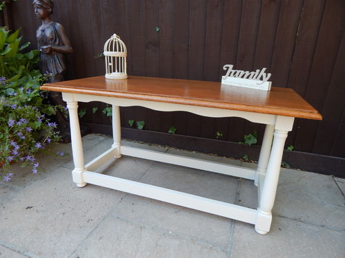 COFFEE TABLE , SHABBY CHIC, SOLID OAK