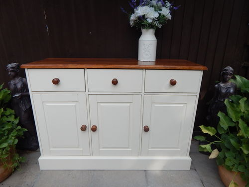 LARGE SOLID PINE, COUNTRY FARMHOUSE SIDEBOARD # # # SOLD # # #