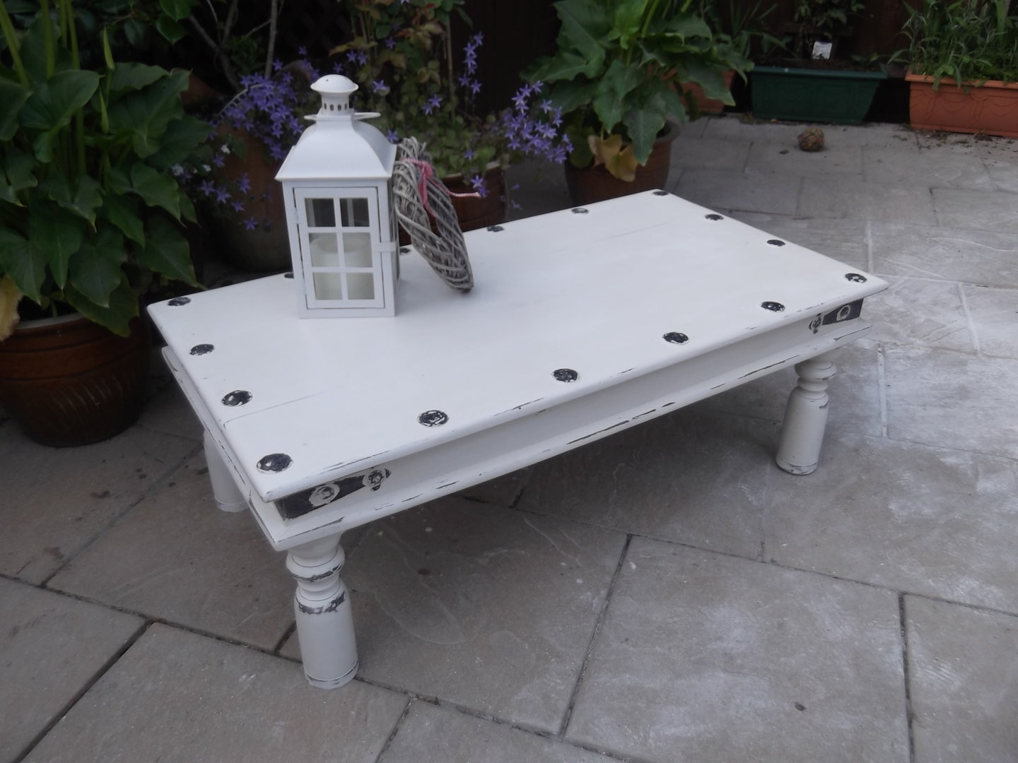 Rustic Shabby Chic Coffee Table Sold
