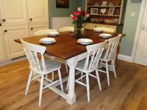 Solid Oak Refectory table & 6 chairs # # # SOLD # # #