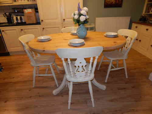 Vintage Pine table & chairs # # # SOLD # # #