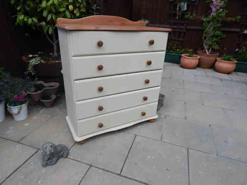 Chest of drawers , Country Farmhouse, 5 drawers  # # # SOLD # # #