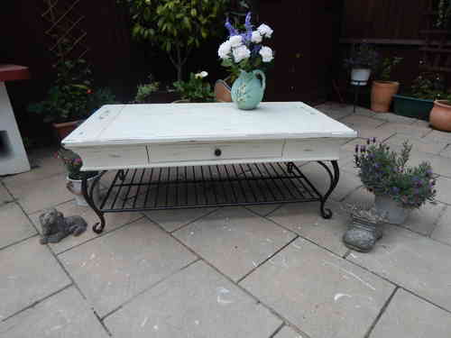 Gorgeous Large ,Shabby chic, Vintage, Coffee table. # # # SOLD # # #