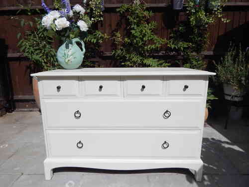 STAG MINSTREL CHEST OF DRAWERS , SHABBY CHIC # # # SOLD # # #