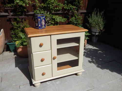 SOLID PINE TV / HiFi CABINET, SHABBY CHIC # # # SOLD # # #