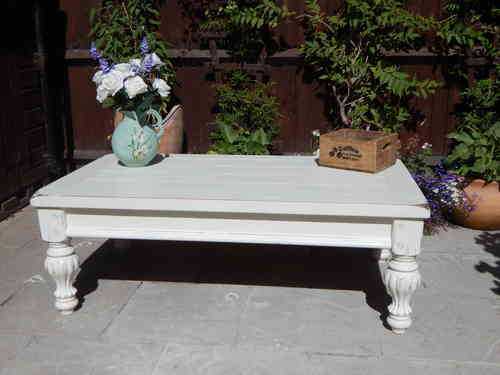 LARGE, SHABBY CHIC , FRENCH COUNTRY , COFFEE TABLE # # # SOLD # # #