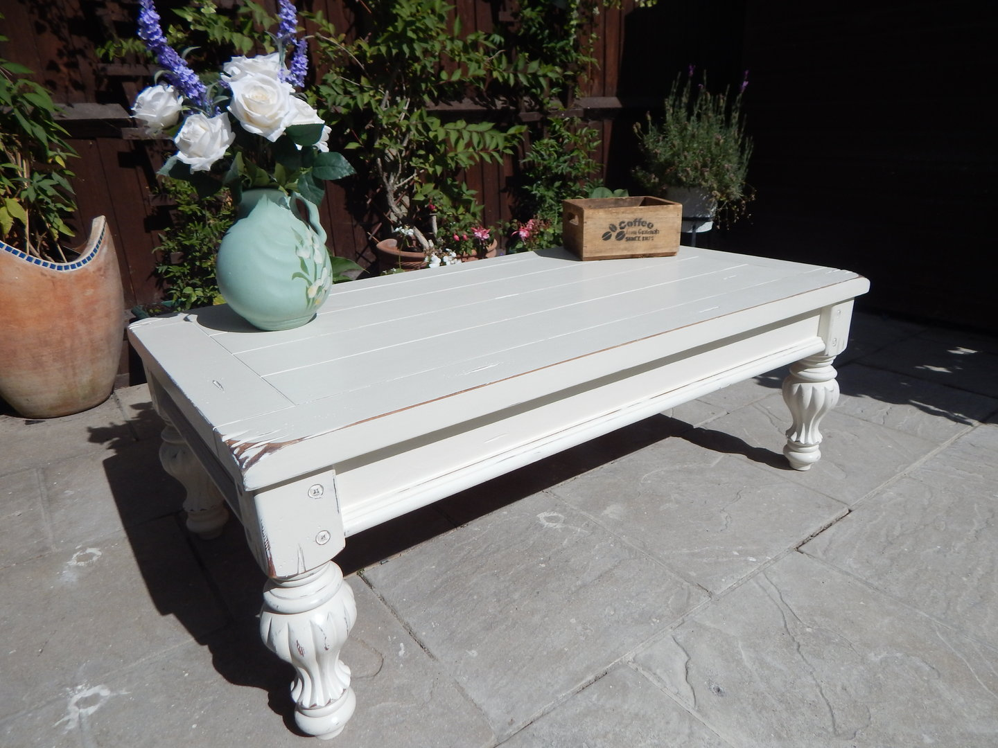 LARGE SHABBY CHIC FRENCH COUNTRY COFFEE TABLE