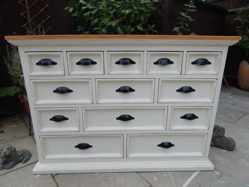 STUNNING SHABBY CHIC PINE MERCHANTS CHEST ## SOLD # #