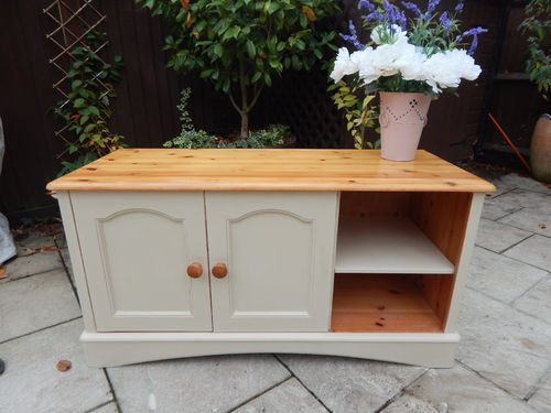 PINE , SHABBY CHIC TV CABINET # # # SOLD # # #