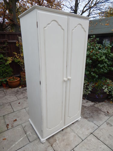 SHABBY CHIC WARDROBE , PINE # # # SOLD # # #