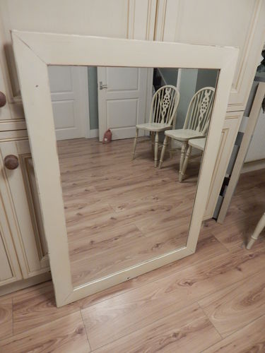 VERY LARGE SHABBY CHIC PINE WALL MIRROR # ## SOLD # # #
