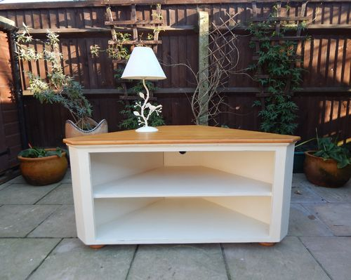 SHABBY CHIC CORNER TV STAND # # # SOLD # # #