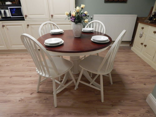 BEAUTIFUL SHABBY CHIC PINE FARMHOUSE TABLE & 4 CHAIRS # # # SOLD # # #