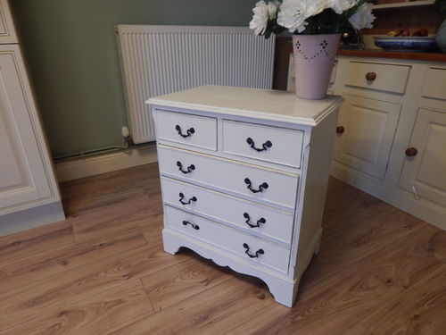 SHABBY CHIC GEORGIAN STYLE CHEST OF DRAWERS # # SOLD # #