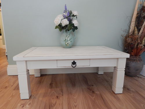 BEAUTIFUL SHABBY CHIC PINE DISTRESSED COFFEE TABLE # # # SOLD # # #