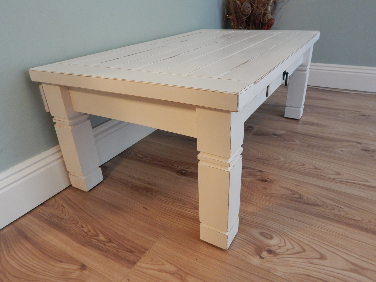Beautiful Shabby Chic Pine Distressed Coffee Table Sold Moonstripe