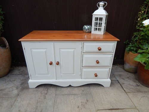 SOLID PINE, SHABBY CHIC TV CABINET / CUPBOARD # # # SOLD  # # #