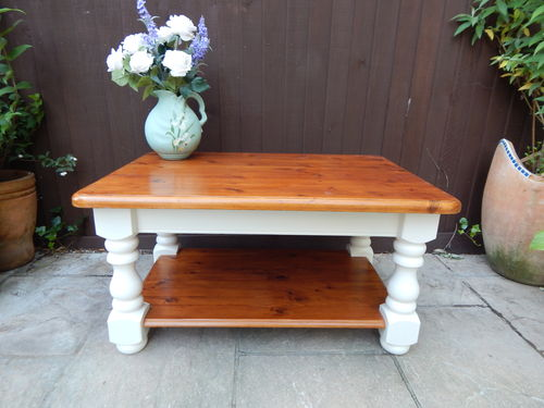 GORGEOUS SOLID PINE, SHABBY CHIC COFFEE TABLE # # # SOLD # # #