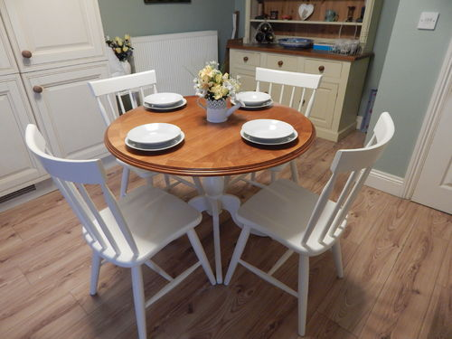 GORGEOUS QUALITY FARMHOUSE TABLE AND 4 CHAIRS  # # # SOLD # # #