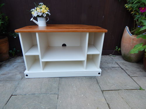 TV STAND , SOLID PINE , SHABBY CHIC FARMHOUSE # # # SOLD # # #